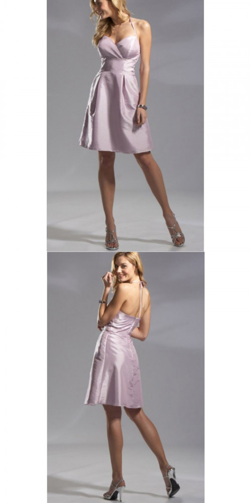 Bridesmaid Dresses - A-line Pearl Pink Knee-length Bridesmaid Dress  https://www.udressme.co.nz/ball-dresses.html