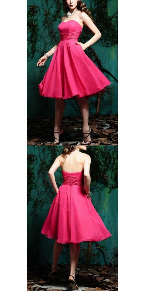 Bridesmaid Dresses - A-line Tea-length Zipper Exquisite Bridesmaid Dresses Nz https://www.udressme.co.nz/