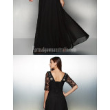 Australia-Formal-Evening-Dress-Black-A-line-Scoop-Long-Floor-length-Chiffon-Lacecfabc6ec7d510c18