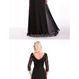 Australia-Formal-Evening-Dress-Black-A-line-Scoop-Long-Floor-length-Chiffon-Lace-Stretch-Satinda5ef716642a5ab8