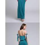 Bridesmaid-Dresses---Ankle-length-Jersey-Bridesmaid-Dress-Sexy-Sheath-Column-Off-the-shoulder-with-Bow2ee60c12605b3c19
