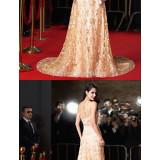 Australia-Formal-Evening-Dress-Gold-A-line-Jewel-Chapel-Train-Lacebaa379eb0b67eb43
