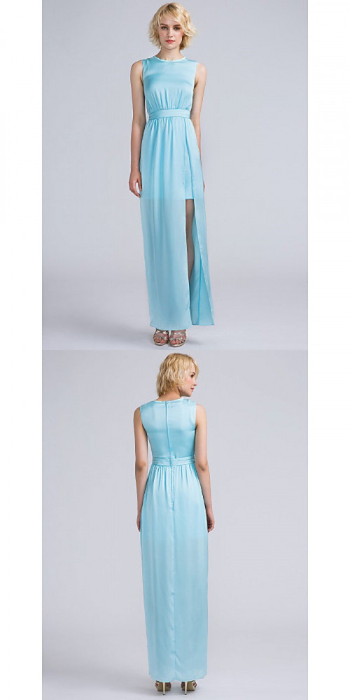 Bridesmaid-Dresses---Ankle-length-Satin-Chiffon-Bridesmaid-Dress-Furcal-Sheath-Column-Jewel-with-Sash-Ribbon-Split-Front-Pleatsfc6f8fa82b8f950f.jpg