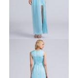 Bridesmaid-Dresses---Ankle-length-Satin-Chiffon-Bridesmaid-Dress-Furcal-Sheath-Column-Jewel-with-Sash-Ribbon-Split-Front-Pleatsfc6f8fa82b8f950f