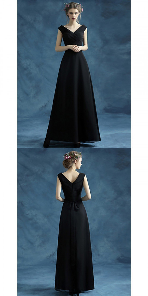 Bridesmaid-Dresses---Ankle-length-Organza-Satin-Bridesmaid-Dress-A-line-V-neck-with-Sash-Ribbon-Criss-Crossfd49a338fe2d13ec.jpg