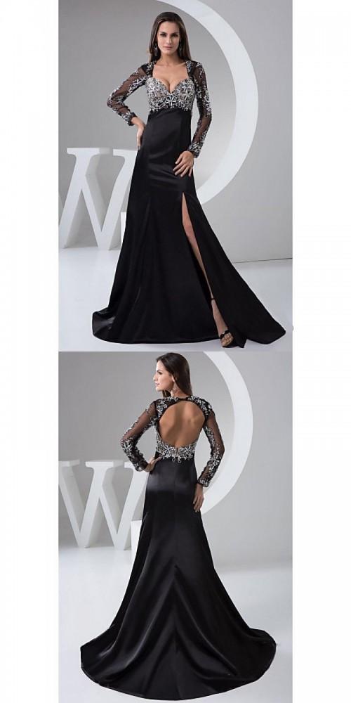 Australia-Formal-Evening-Dress-Black-Petite-A-line-Square-Long-Floor-length-Satin-Tulle9fff1ff5f86c5651.jpg